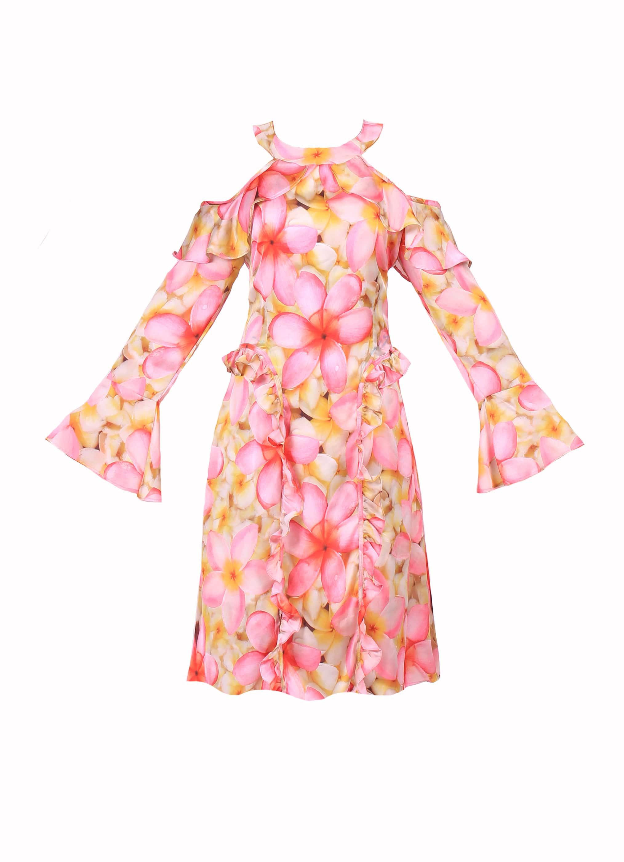فستان فلورال - ميدي