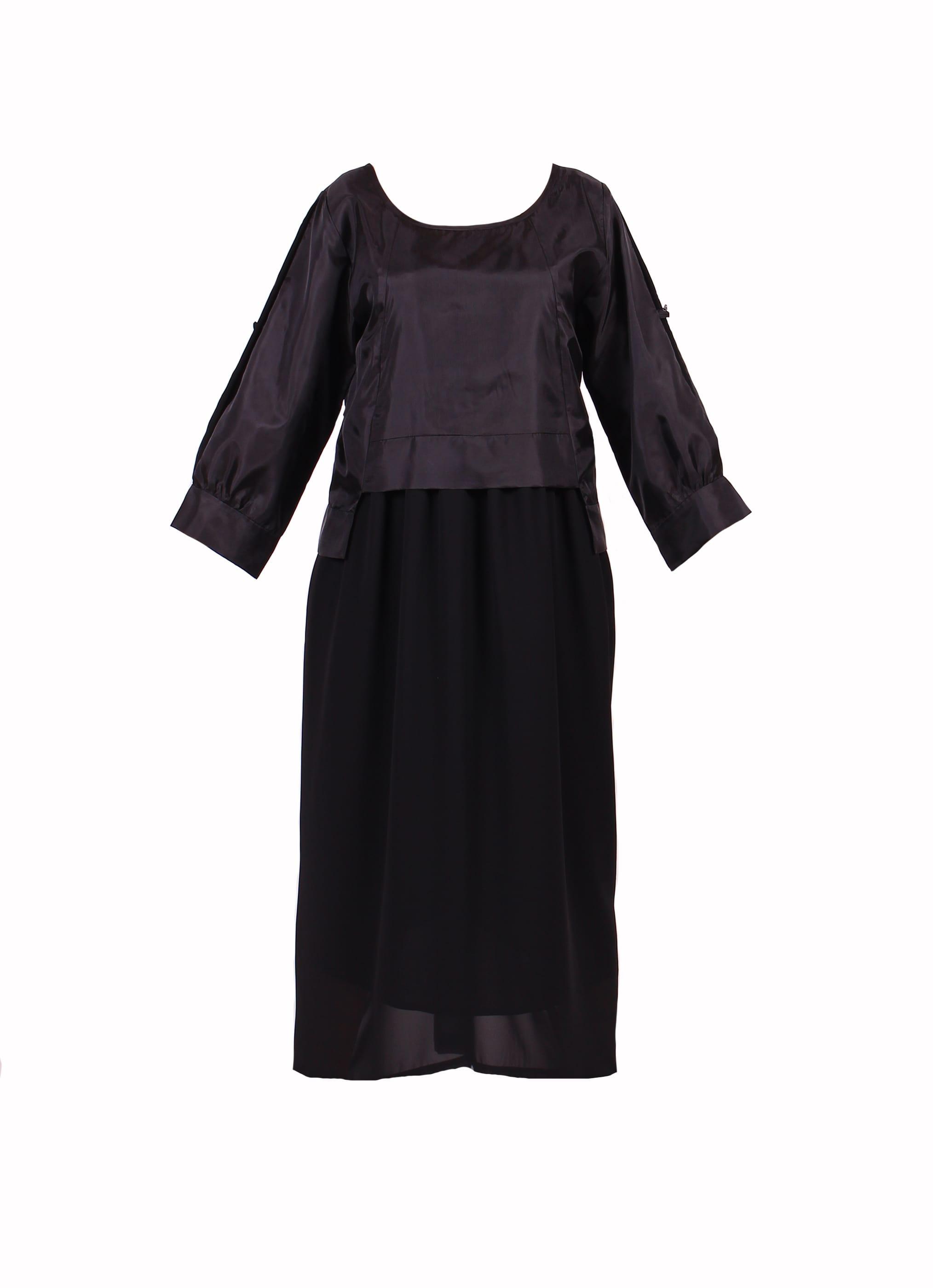 فستان كاجوال ميدي أسود